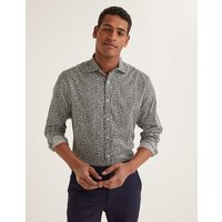 Slim Fit Printed Twill Shirt Richmond Green Woodland Floral Men Boden, Richmond Green Woodland Floral.