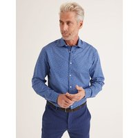 Printed Twill Shirt Blue Men Boden, Red