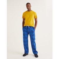Brushed Cotton Pyjama Bottoms Blue Men Boden
