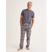 Brushed Cotton Pyjama Bottoms Grey Men Boden