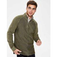 Mallory Garment-dyed Half-zip Green Men Boden