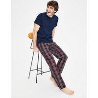 Cotton Poplin Pyjama Bottoms Grey Men Boden