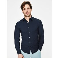 Slim Fit Poplin Shirt Navy Men Boden, Navy