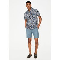 Boden Linen Drawstring Shorts Blue Men Boden, Blue