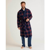 Brushed Cotton Dressing Gown Multi Men Boden, Navy