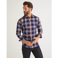 Boden Slim Fit Indigo Check Shirt Blue Men Boden, Indigo