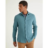 Boden Arundel Doublecloth Shirt Blue Men Boden, Blue