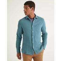 Arundel Doublecloth Shirt Blue Men Boden, Blue