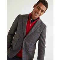 Boden Middleham Tweed Blazer Grey Men Boden, Grey
