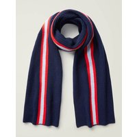 Cashmere Knitted Scarf Navy Men Boden, Navy