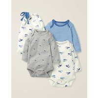 3 Pack Whales Bodies Multi Baby Boden, Ivory