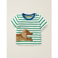 Novelty Animal T-Shirt Green Baby Boden, Green