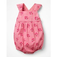 Frilly Bubble Romper Pink Baby Boden, Pink