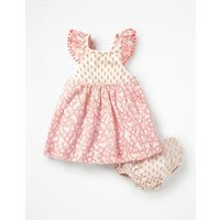 Hotchpotch Woven Dress Pink Baby Boden, Pink