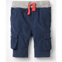 Pull-on Cargo Trousers Blue Boys Boden, Blue