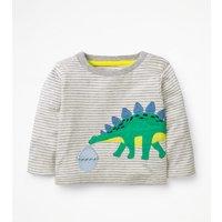 Big Applique T-shirt Grey Baby Boden, Beige