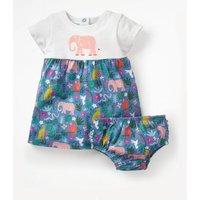 Animal Jersey Dress Multi Baby Boden, Blue