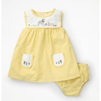 Detailed Woven Dress Yellow Baby Boden, Yellow