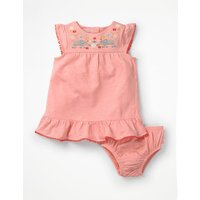 Jungle Embroidered Dress Pink Baby Boden, Pink