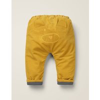 Fleece Lined Cord Trouser Yellow Girls Boden, yellow