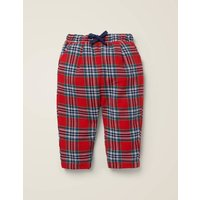 Supersoft Check Trouser Red Boys Boden, Blue