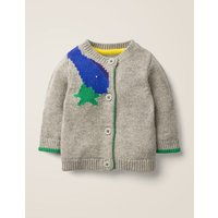 Novelty Cardigan Grey Baby Boden, Grey