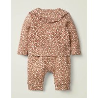 Cosy Jersey Set Pink Baby Boden, Leopard