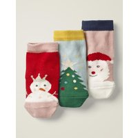 3 Pack Festive Socks Multi Boys Boden, Multicouloured