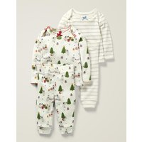 Cosy Pointelle Pyjamas Ivory Baby Boden, Ivory