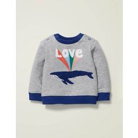 Cosy Slogan Sweatshirt Grey Baby Boden, Grey