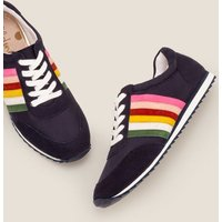 Striped Trainers Navy Women Boden, Navy
