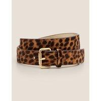 Classic Buckle Belt Brown Women Boden, Leopard