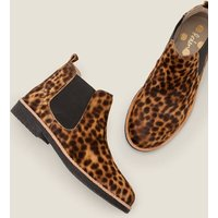 Oakington Ankle Boots Brown Women Boden, Leopard
