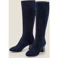 Round Toe Stretch Boots Navy Women Boden, Navy