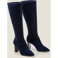 Pointed Toe Stretch Boots Navy Women Boden, Navy