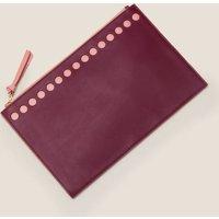 Large Leather Keepsake Pouch Purple Women Boden, Purple