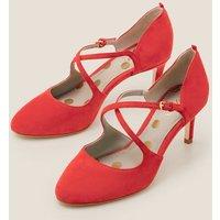 Boden Vanessa Mid Heels Red Women Boden, Navy