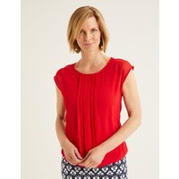 Dakota Jersey Top Red Women Boden, Navy