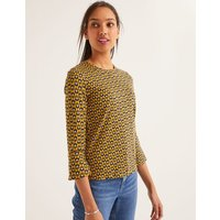 Althea Jersey Top Yellow