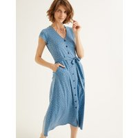 Frances Jersey Midi Dress Blue Women Boden, Blue