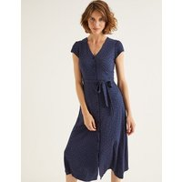 Frances Jersey Midi Dress Navy Women Boden, Navy