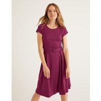 Aida Ponte Dress Purple