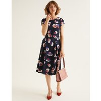 Aida Ponte Dress Navy