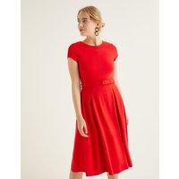 Aida Ponte Dress Red Women Boden, Navy