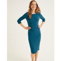 Leah Ottoman Dress Blue Women Boden, Blue