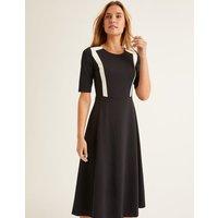 Emily Ponte Midi Dress Black Women Boden, Black