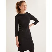 Bessie Jacquard Dress Black Women Boden, Black