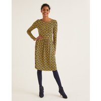 Abigail Jersey Dress Yellow