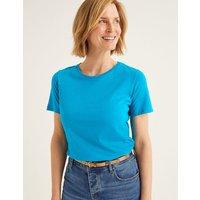 Supersoft Short Sleeve Tee Blue Women Boden, Blue