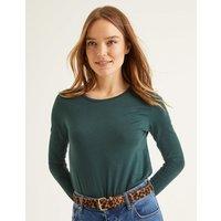 Supersoft Long Sleeve Tee Green Women Boden, Green